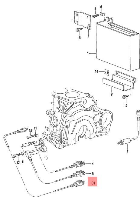 Genuine Knock Sensor Green AUDI 100 quattro 200 5000 Turbo
