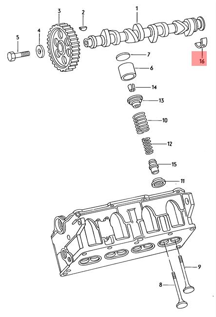 Camshaft Bearing Shell VW AUDI Dasher Jetta Quantum Rabbit