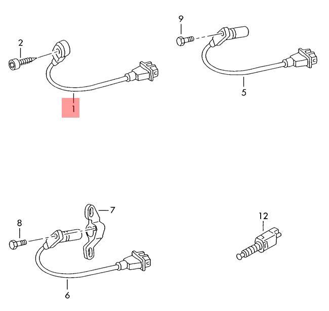 Genuine Knock Sensor With Wiring Harness VW Passat 3B3 3B6