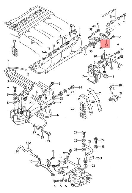 Genuine Start Valve for Fuel Injection VW Corrado Golf
