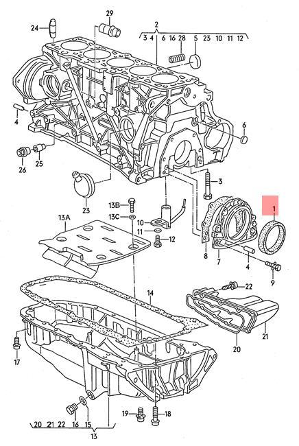 Genuine Repair kit for sealing flange rear VW AUDI Corrado