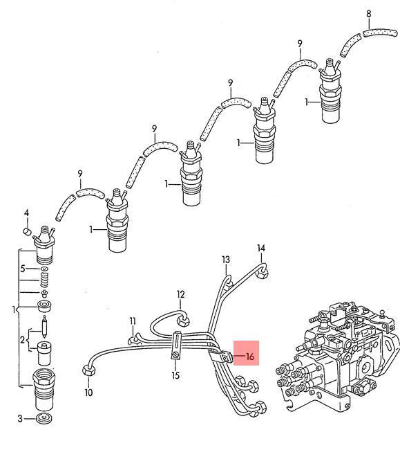 Genuine Clamp AUDI VW 100 5000 A6 Avant S6 quattro EuroVan