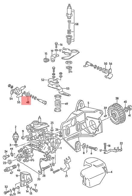 Genuine Leg Spring VW AUDI EuroVan Audi 100 70 7D 44 4A