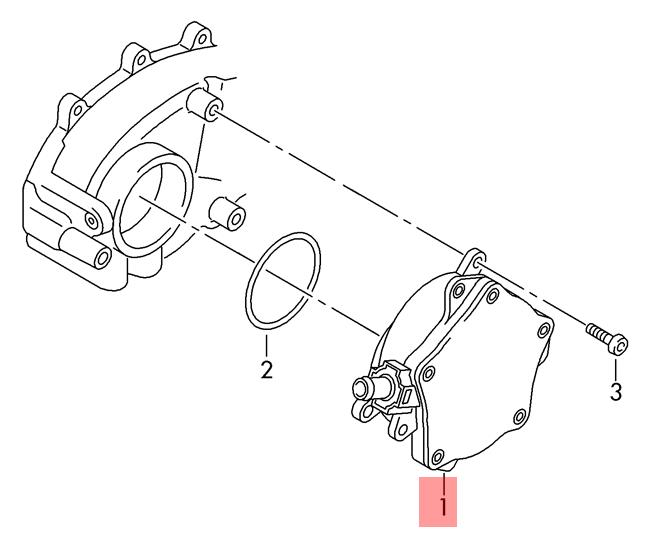 Genuine Vacuum pump AUDI VW Audi A3 S3 Sportback Lim