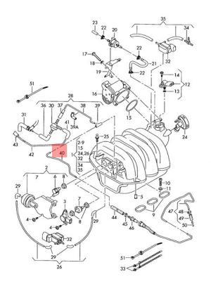 Genuine Vacuum pipe AUDI Audi A4 Avant S4 A6 S6 quattro