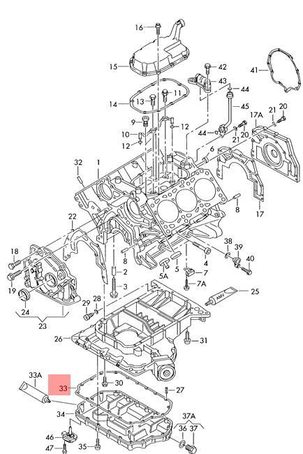 Seal lower AUDI VW Audi A4 Wagon S4 A6 allroad quattro S6