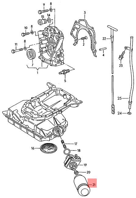 Oil Filter AUDI VW Audi 80 90 quattro A4 Wagon S4 Cabrio