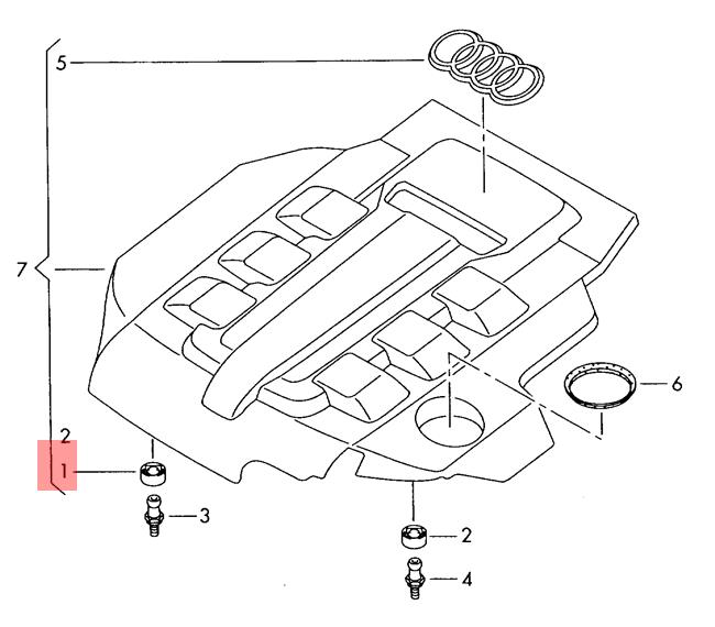 push-on connector front right front AUDI VW Audi A3