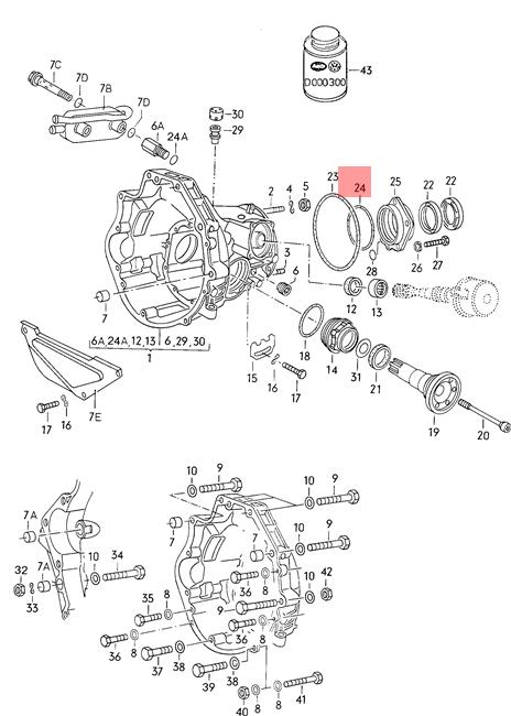 Genuine Volkswagen O-Ring NOS Audi 100 200 4000 5000 Turbo