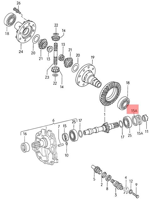 Genuine VW Seal Ring NOS AUDI VW 100 Avant 4000 5000 80 90