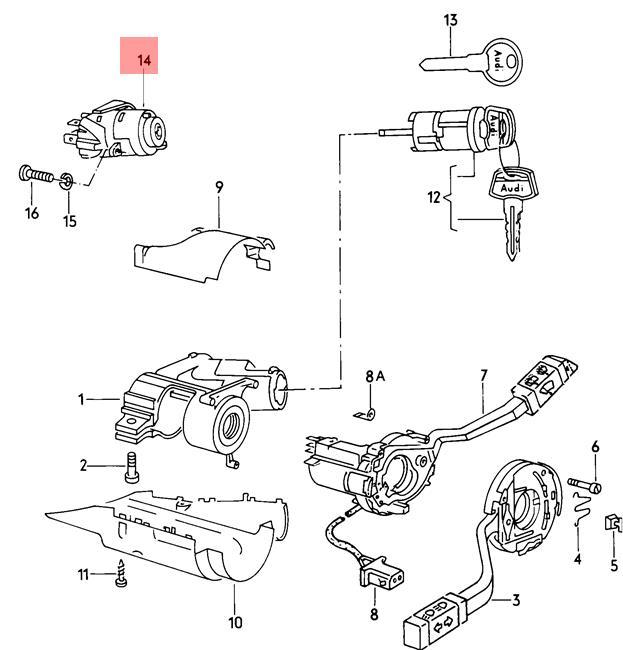 Genuine Volkswagen Ignition Starter Switch LHD NOS VW AUDI