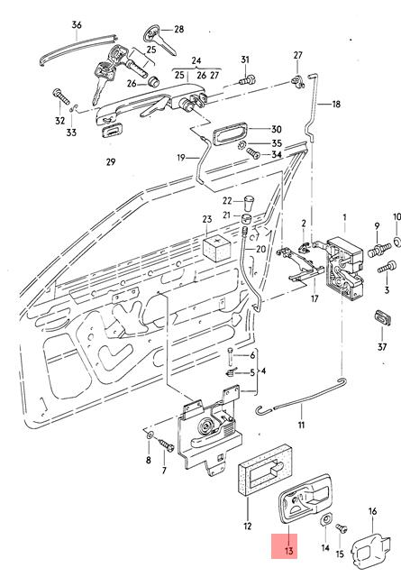 Genuine Satin black trim plate for interior contr. VW AUDI