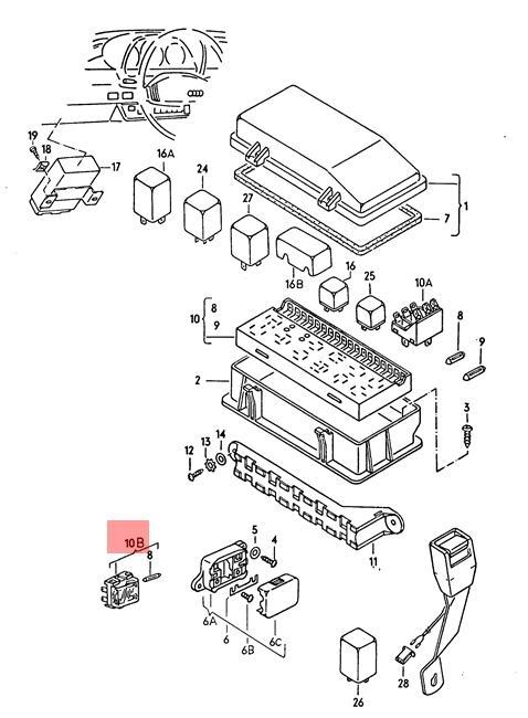 Genuine Volkswagen Fuse Socket 2 Point NOS Dasher Jetta