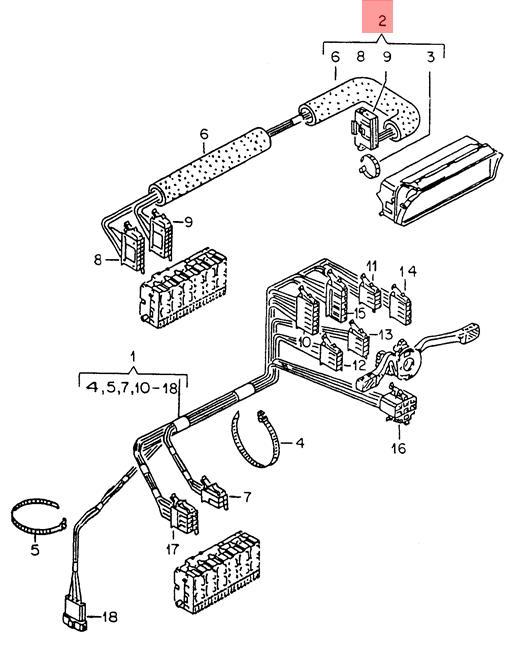 1992 Volkswagen Golf Wiring Harnes