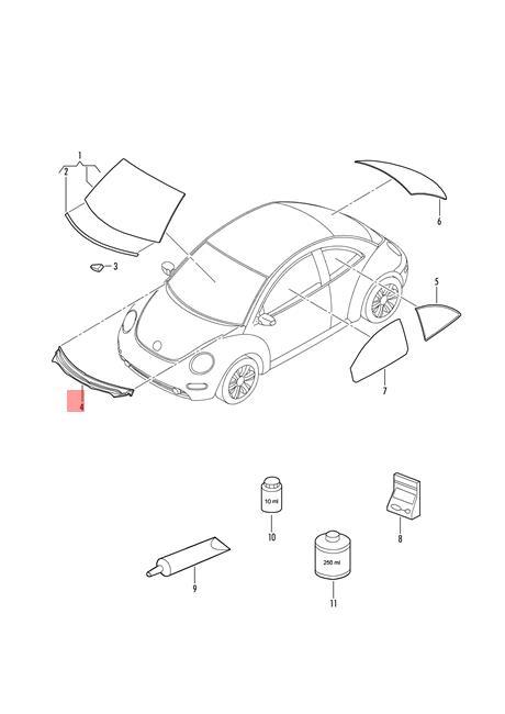 Genuine Water Deflector Trim VW Beetle Bettle New