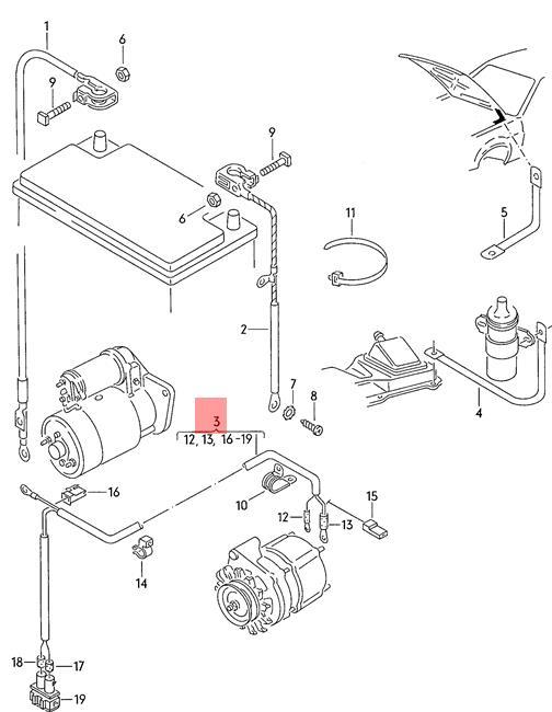 Genuine Volkswagen Wiring Set For Three-Phase Alternator