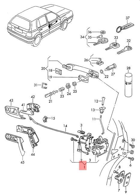 Genuine VW Clasico Jetta Golf Cabrio. Cabriolet door lock