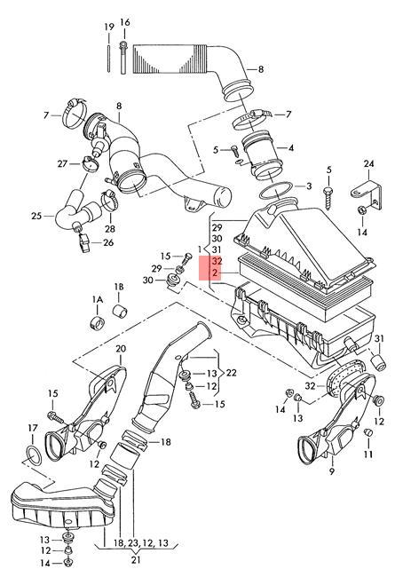 Air Filter Element VW AUDI Beetle Convertible Golf R32 GTI