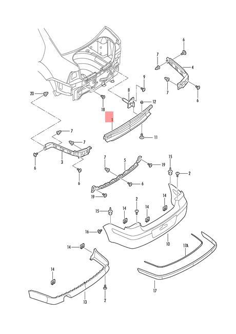 Genuine VW Bumper Carrier Rear NOS VW Bora Variant 4Motion