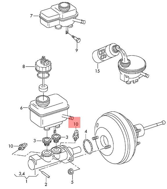 Genuine Pressure Sensor VW Beetle Cabrio Golf R32 GTI