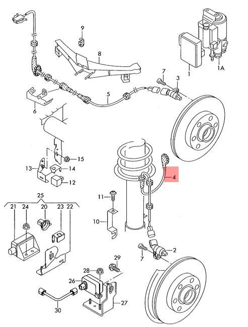Genuine Wiring Harness For Speed Sensor Left Front VW