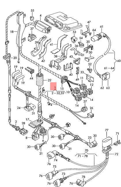 Genuine VW SEAT AUDI SKODA Bora Harness For Engine