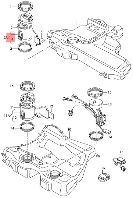 Genuine Fuel Gauge Sensor AUDI VW A3 S3 Sportback