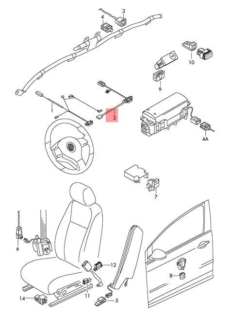 Genuine VW SEAT SKODA Adapter Wiring Harness For Side
