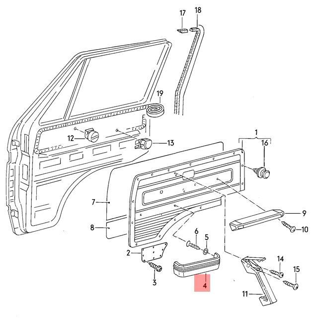 Genuine VW Typ 2 Syncro Vanagon stowage box 2558671316AW