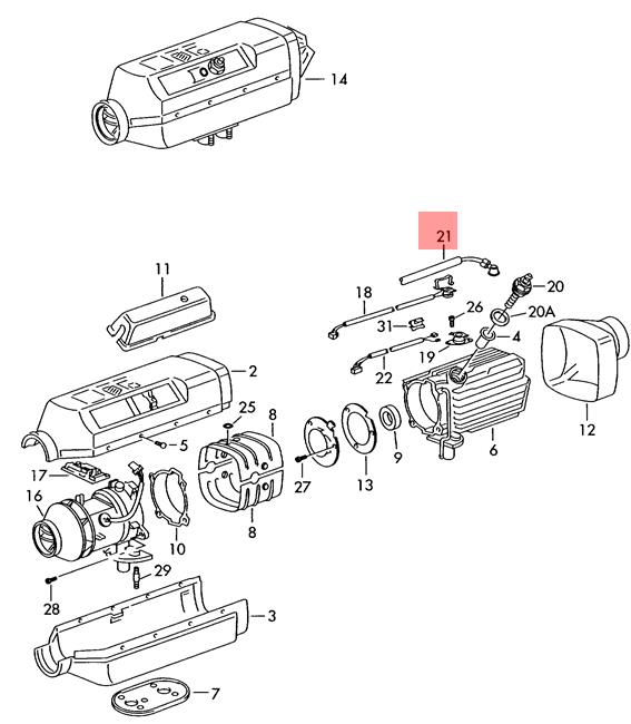 Genuine VW Lt 4X4 Wiring Harness For Auxiliary Heater