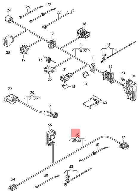 Genuine VW Passat Cc Wiring Harness For Door Trim Panel