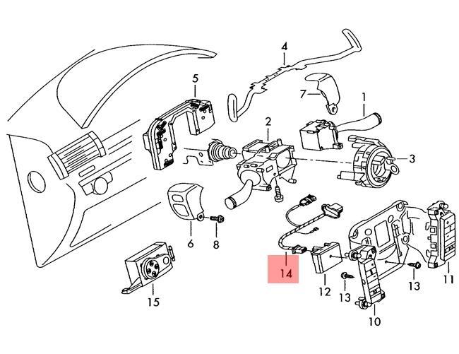 Genuine VW Phaeton Touareg Adapter Wiring Harness For