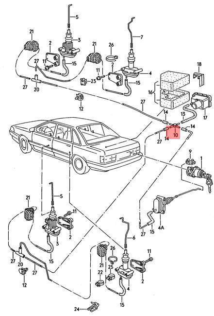 Genuine VW 4 Way Connector 4-Door NOS AUDI VW 100 Avant