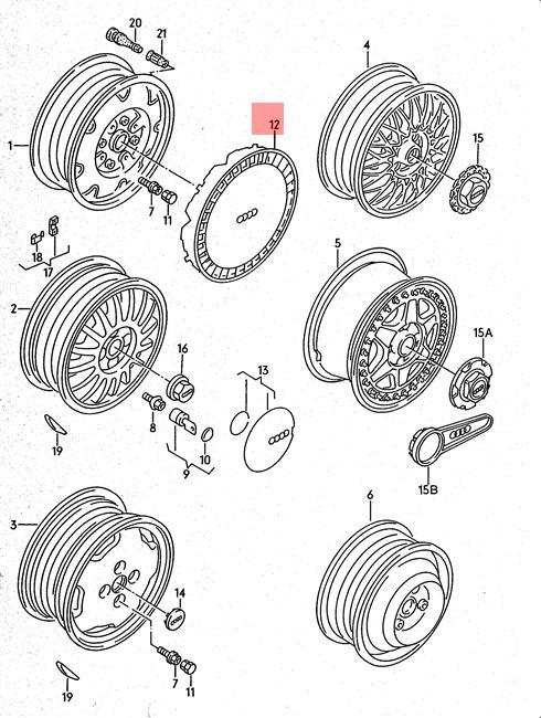 Genuine Wheel Center Hub Cap Chrome For AUDI 443601147D7ZC
