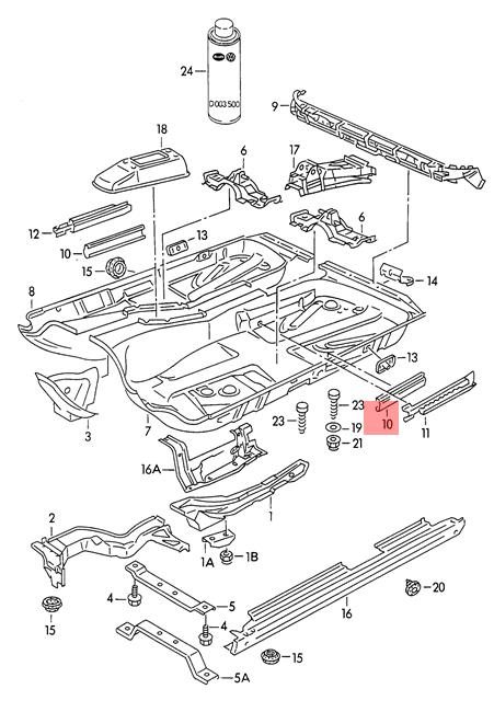 Genuine Guide Rail Outer VW AUDI SEAT 50 Caddy Clasico
