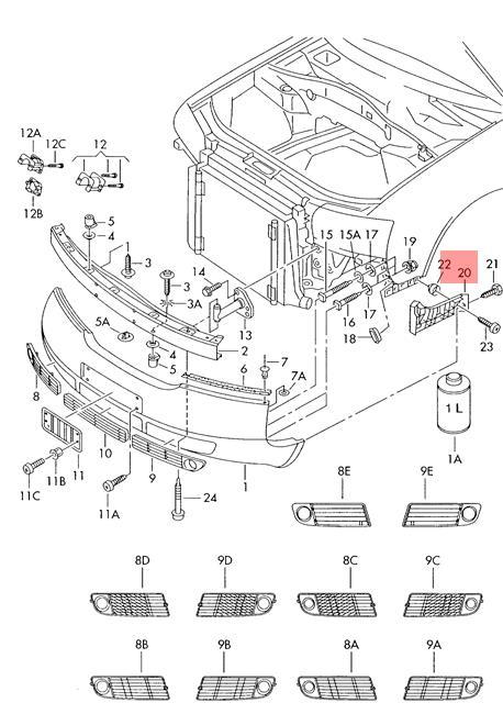 Genuine Guide piece left AUDI Audi A6 Avant S6 quattro 4B2
