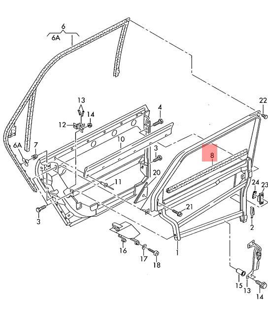 Genuine Window Aperture Seal Left Inner AUDI A6 Allroad Qu