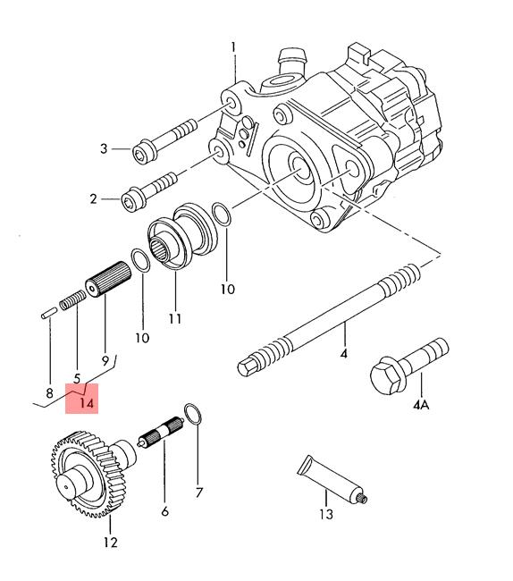 Genuine Repair set for vane pump AUDI A4 Wagon S4 Cabrio