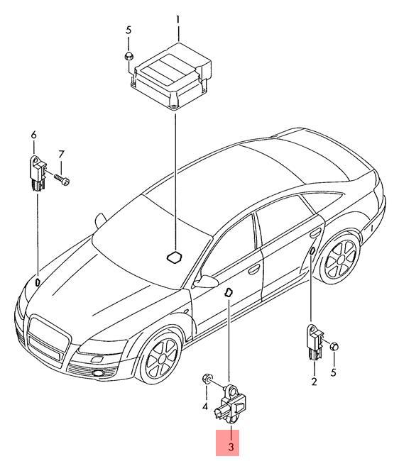 Genuine Pressure Sensor Center AUDI A6 S6 quattro 4F2
