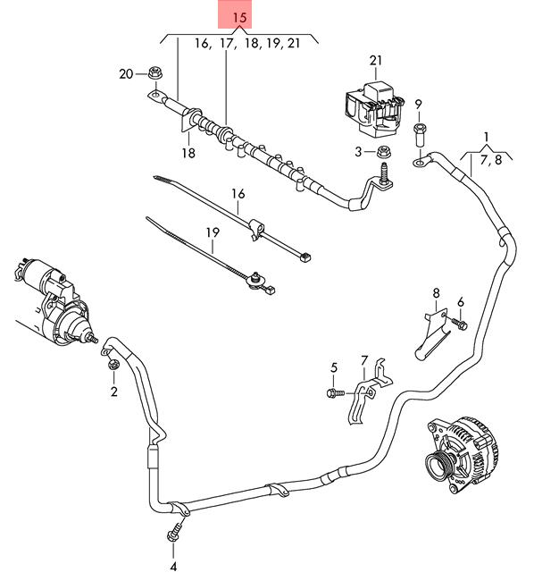 Genuine AUDI Q7 Wiring Harness For Jumper Cable Socket
