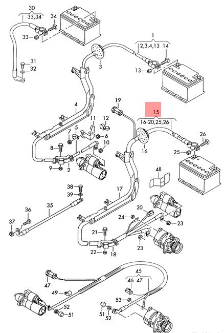 Genuine AUDI A6 Allroad Qu. Wiring Harness For Battery