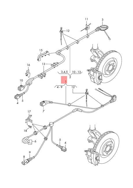 Genuine AUDI SKODA Wiring Harness For Speed Sensor Left