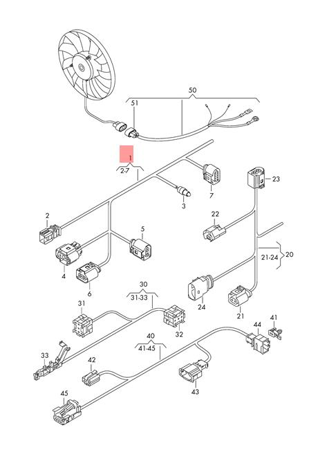 Genuine VW Tiguan Wiring Harness Section For Lighting