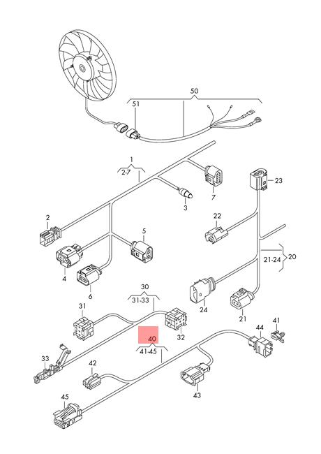 Genuine VW Tiguan Wiring Harness For Centre Console