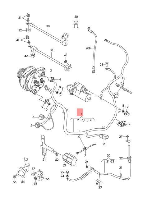 Genuine VW SEAT SKODA Wiring Harness For Battery + Starter