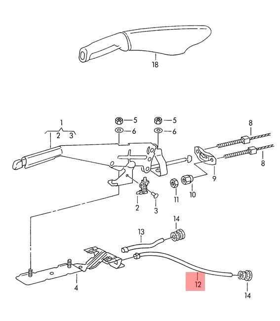 Genuine VW Guide Tube For Handbrake Cable Left NOS VW SEAT