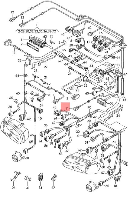 Genuine VW SEAT Lupo 3L Tdi Wiring Harness For Speed