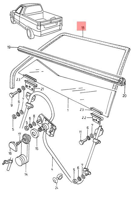 Genuine Volkswagen Window Guide Left NOS SKODA VW Felicia