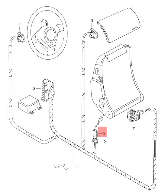 Genuine SEAT VW Arosa Adapter Wiring Harness For Side