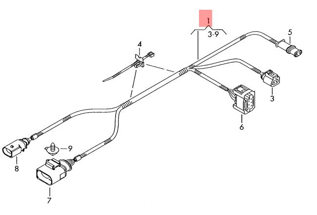 Genuine VW Wiring Harness For Additional Heater